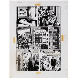 David Lloyd original artwork for V for Vendetta #2 Page 22.