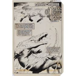 Val Mayerik original artwork for Ka-Zar #17 complete 7-page story 'Tales of Zabu: Of Kith and Kin'.