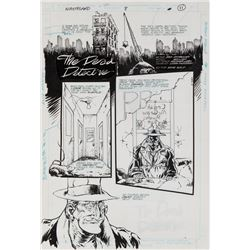 William Messner-Loeb original artwork for Wasteland #8 complete 9-page story 'The Dead Detective'.