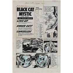 Howard Nostrand original artwork for a Black Cat Mystic #61 complete 6-page story.