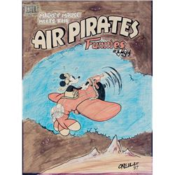 Dan O'Neill original cover recreation artwork for Air Pirates Funnies.
