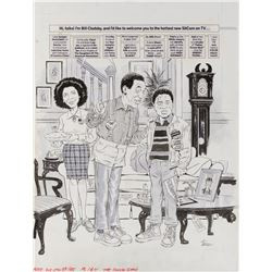 Angelo Torress original artwork for MAD Magazine #255 complete 4-page The Cosby Show parody '