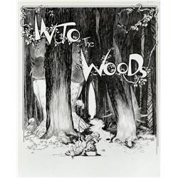 Charles Vess original theatrical poster art for the Stephen Sondheim musical Into the Woods.
