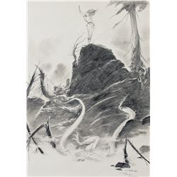 Charles Vess original preliminary artwork.