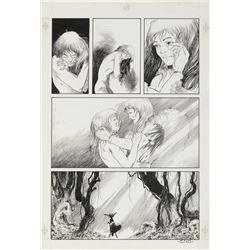 Charles Vess original artwork for the final page of final page Taboo #4 story 'Morrigan Tales'.