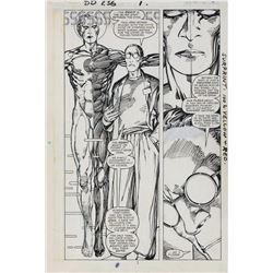 Barry Windsor-Smith original artwork for Daredevil #236 Page 1.