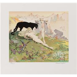 Frank Frazetta signed limited edition lithograph 'Golden Girl'.