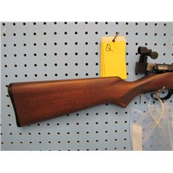 Q... Savage Model 4C bolt action 2 clips 22 calibre with peep sights