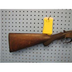 SS... James B Warrilow  shotgun double barrel 12 gauge Damascus barrels transitional from exposed ha