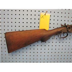 X... J.P. Clabrough & Bros.  12 gauge exposed hammers double Damascus barrel break open