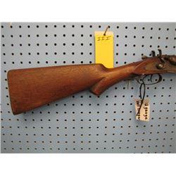 iii... J Manton and Company 12 gauge side by side shotgun exposed hammers break open Damascus barrel