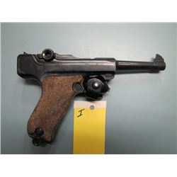 I... RESTRIC...Erma model EP 22 semi auto .22 cal pistol made in Germany.  initials MB carved in gri