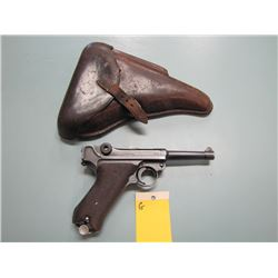 G... PROHIB... Lugar P08 1939 S/42 semi auto 9mm barrel length 98 mm gun and clip serial numbers do