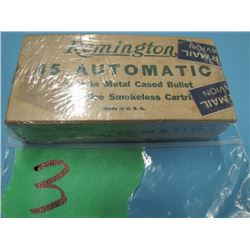 collector box Remington 45 automatic ammunition