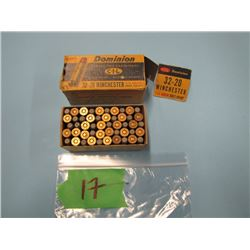 collector box 32 - 20 Winchester ammunition