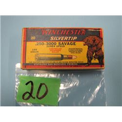collector box Winchester Silvertip 250 - 3000 Savage 20 rounds
