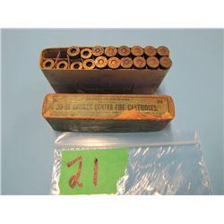 collector box Winchester 38 - 55 ammunition 12 live 6 brass