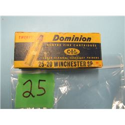 collector box Dominion 25 - 20 Winchester SP 20 rounds
