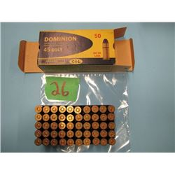 collector box Dominion 45 Colt 50 rounds