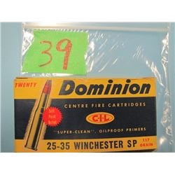 collector box Dominion 25 - 35 Winchester SP ammunition