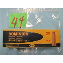 Dominion 4440 Winchester ammunition 19 rounds