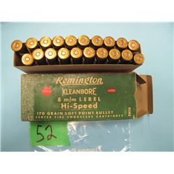 box Remington 8mm Lebel ammunition