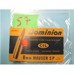 box Dominion 8 mm mauser