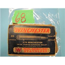 box Winchester 270 Winchester 13 Rounds box in rough shape