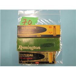 lot of 3 boxes 44 REM Magnum. Dominion, Remington, Imperial