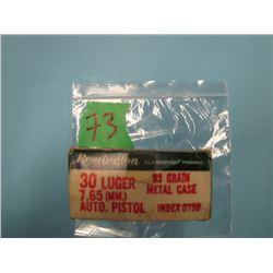 box 30 Luger 49 rounds Remington