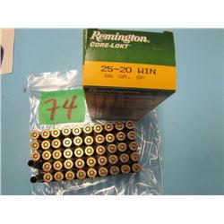 box Remington core lock 25 - 20 win 48 live & 2 brass