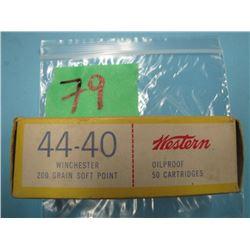 box of Western 44 - 40 ammunition