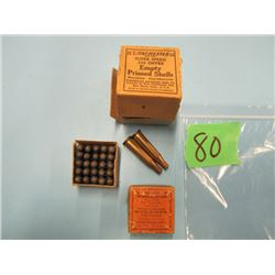 lot Winchester 30 calibre bullets and two brass 219 zipper