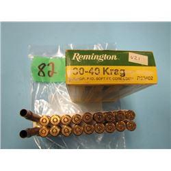 box Remington 30 - 40 krag 18 live and two brass