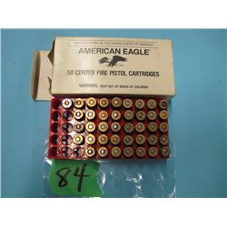 lot of 40 rounds 45 auto ammunition various head stamps