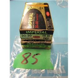 lot of two boxes Imperial 3030 ammunition