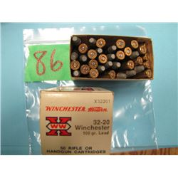 box Winchester 32 - 20 ammunition 30 rounds
