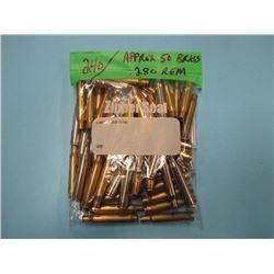 bag of approximately 50 brass 280 REM