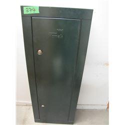 homak steel gun cabinet with one key