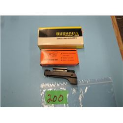 lot of Bushnell shooting glasses and red dot sight