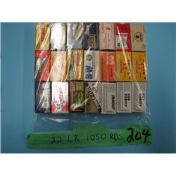 lot of 1050 rounds of 22 long rifle ammunition