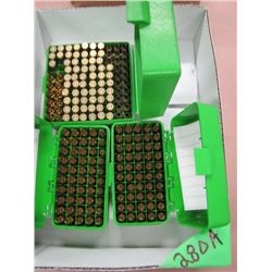 lot of 112 live count .204 ammunition and brass