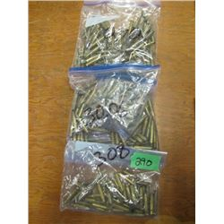 lot of three bags miscellaneous 270, 308, 3006 brass