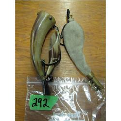 bag with Powderhorn and shot pouch