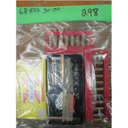 bag of 3030 ammunition 68 rounds