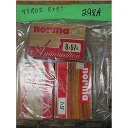 bag of 8 by 57 ammunition 45 rounds
