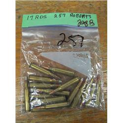 bag of 257 Roberts ammunition 17 rounds