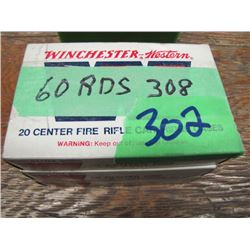 lot of 60 rounds 308 reload ammo