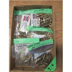 box of assorted brass