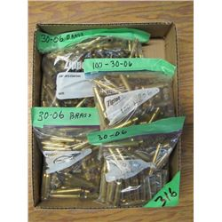 box of assorted 30 - 06 brass